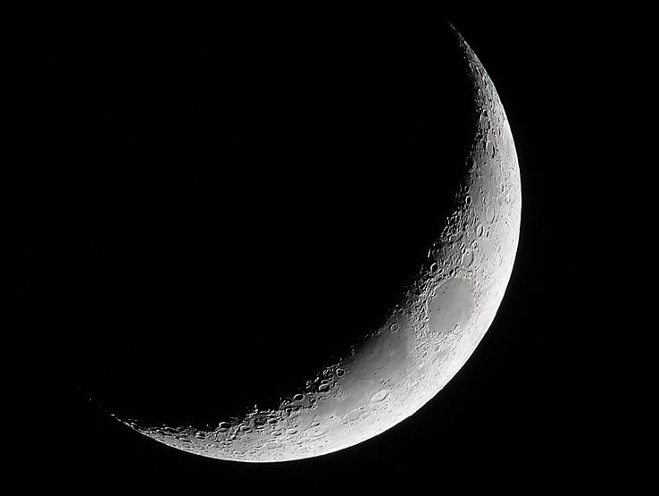Croissant de Lune vu de l'espace