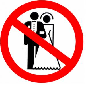 Sigle interdiction de se marier