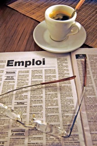 Page d'un journal de recherche d'emploi